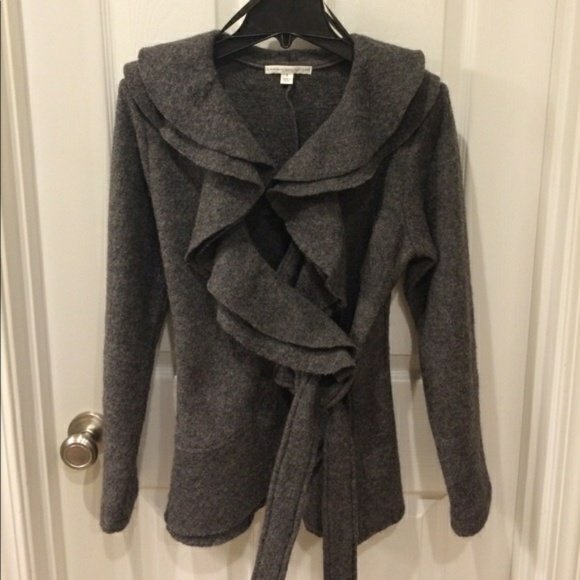 Sarah Spencer Jackets & Blazers - Sarah Spencer Wool Wrap Jacket Size Small